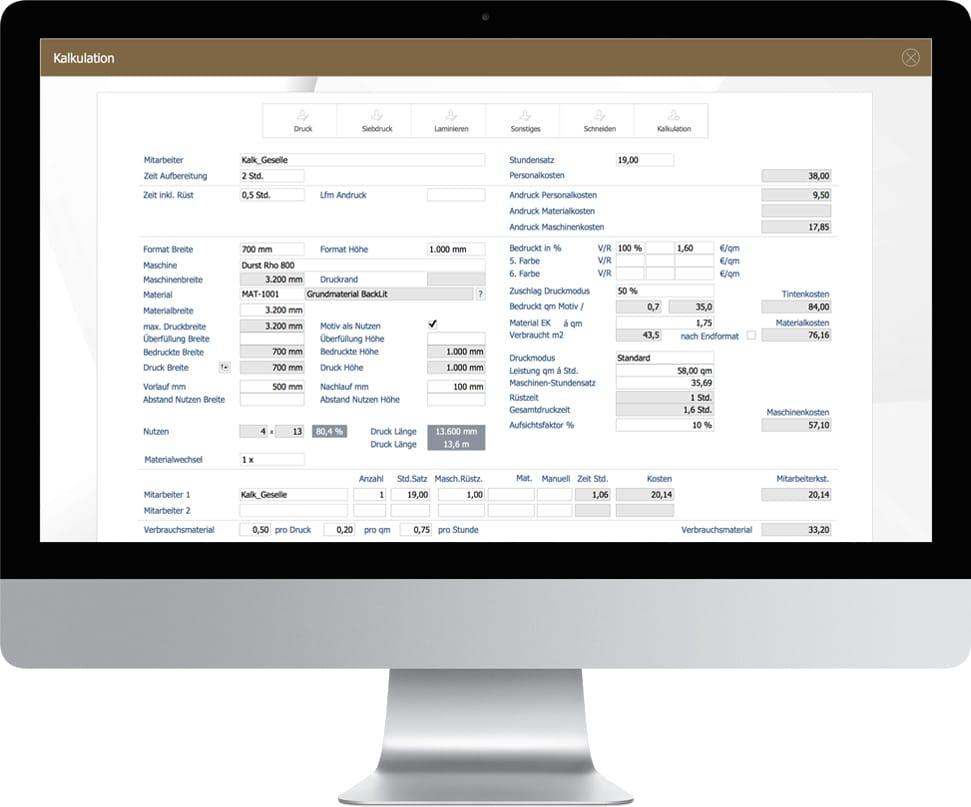 advanter print & sign - Branchensoftware für Druckereien und Werbetechniker