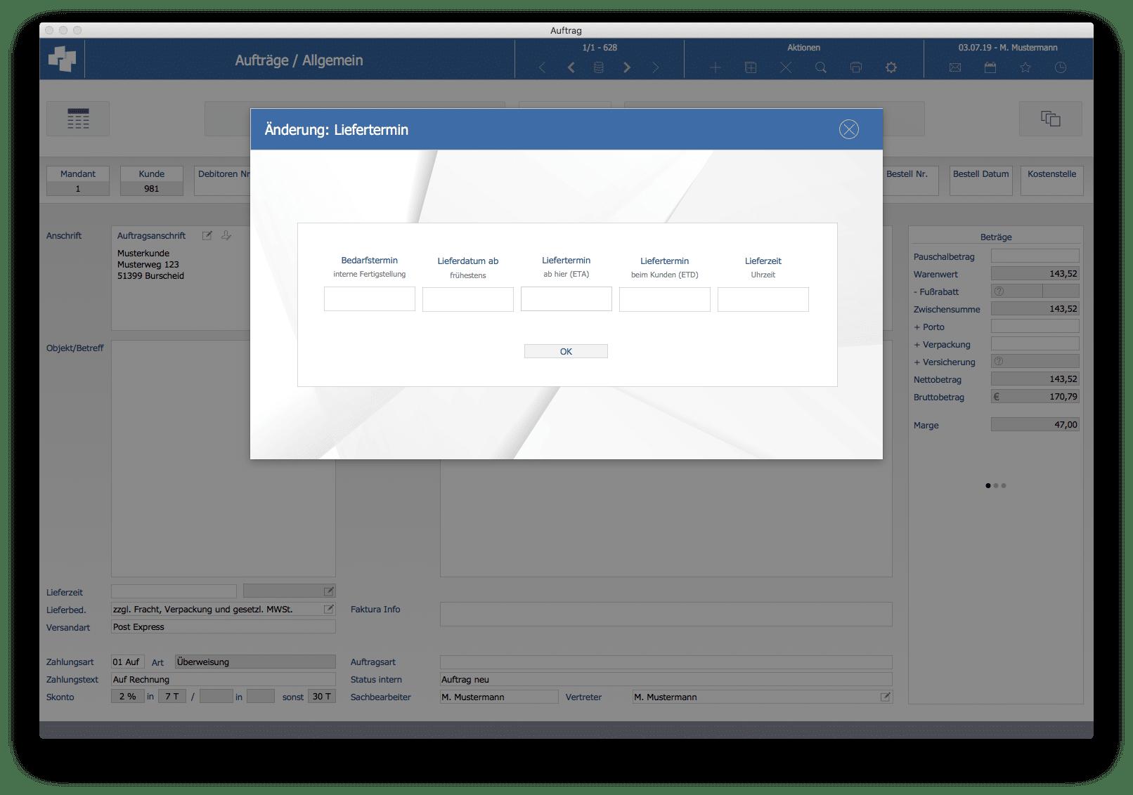 advanter 5.0 Angebot / Liefertermin