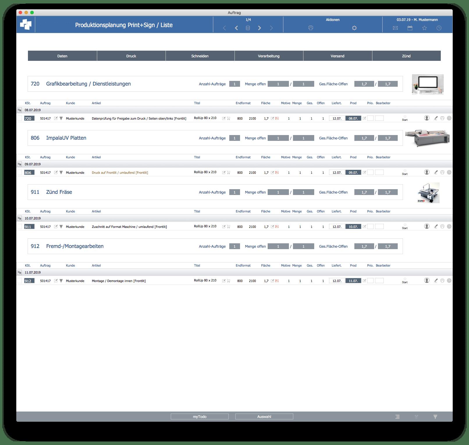 advanter 5.0 Produktionsplanung
