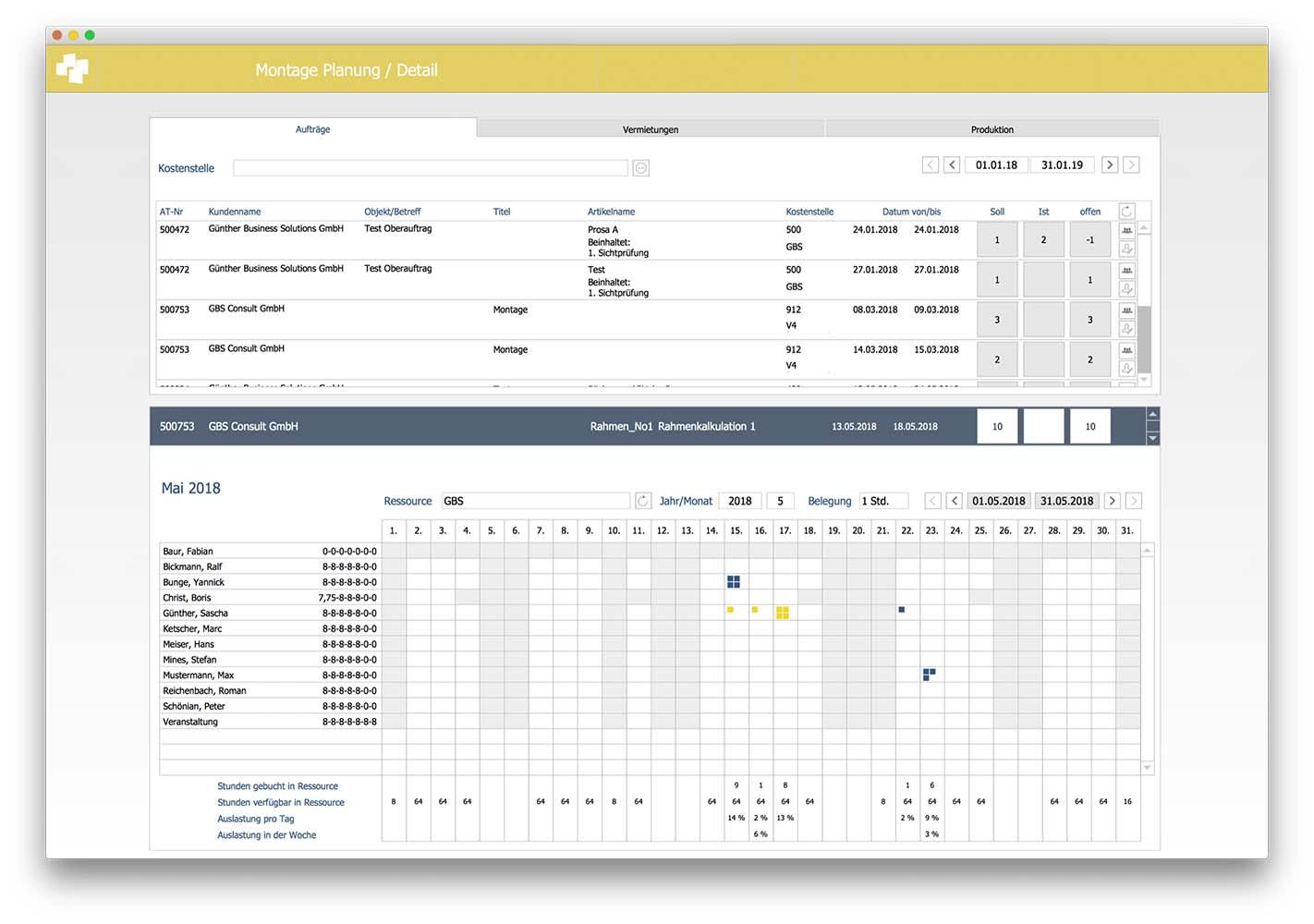 advanter Service Montageplanung
