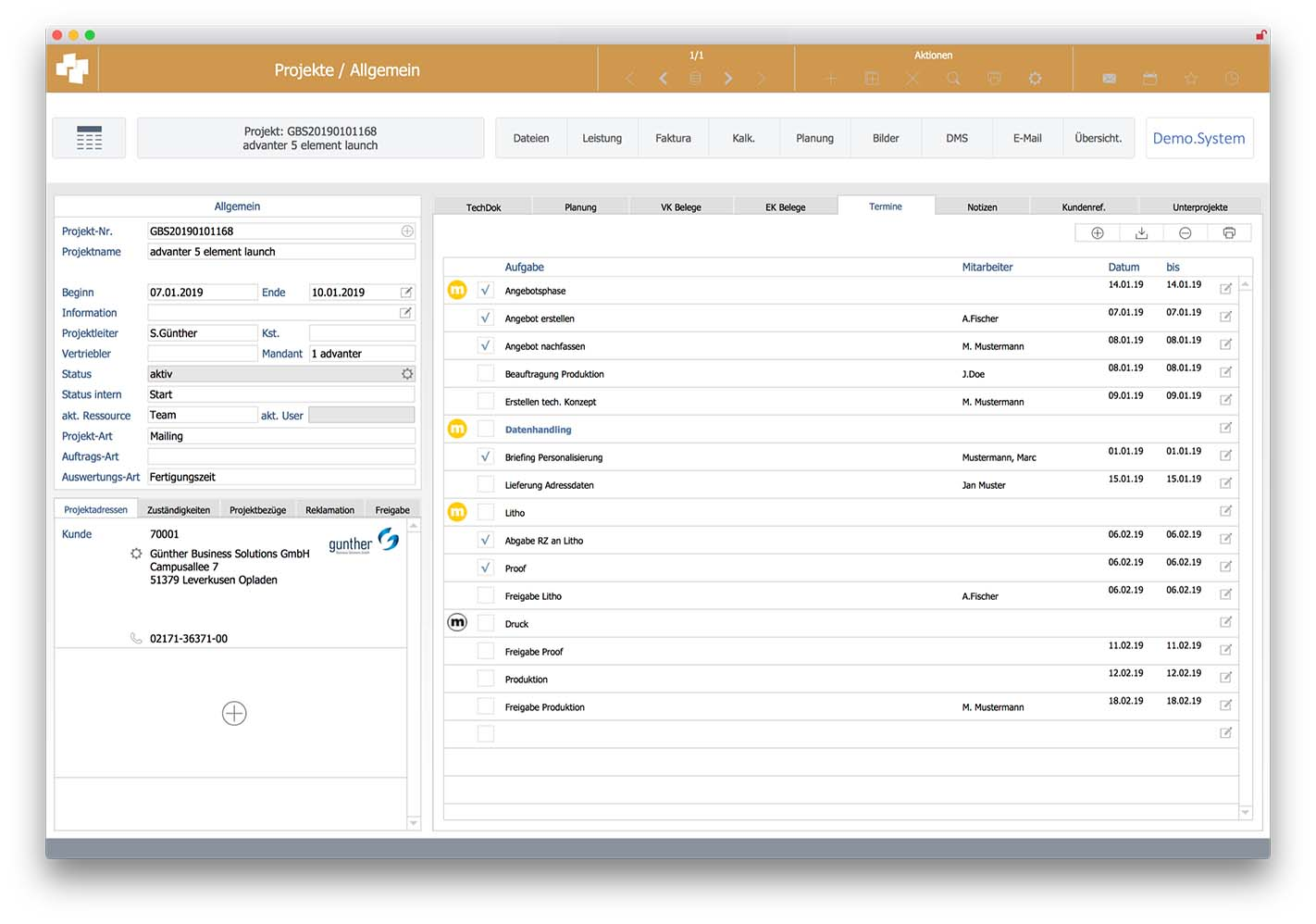 advanter® 5 elements | media - für Mediendienstleister und Unternehmen mit Projektgeschäft